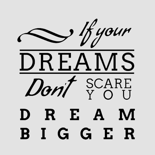 Inspirational Dream Bigger Typography Picture Quote - Inspiring Quotes PNG