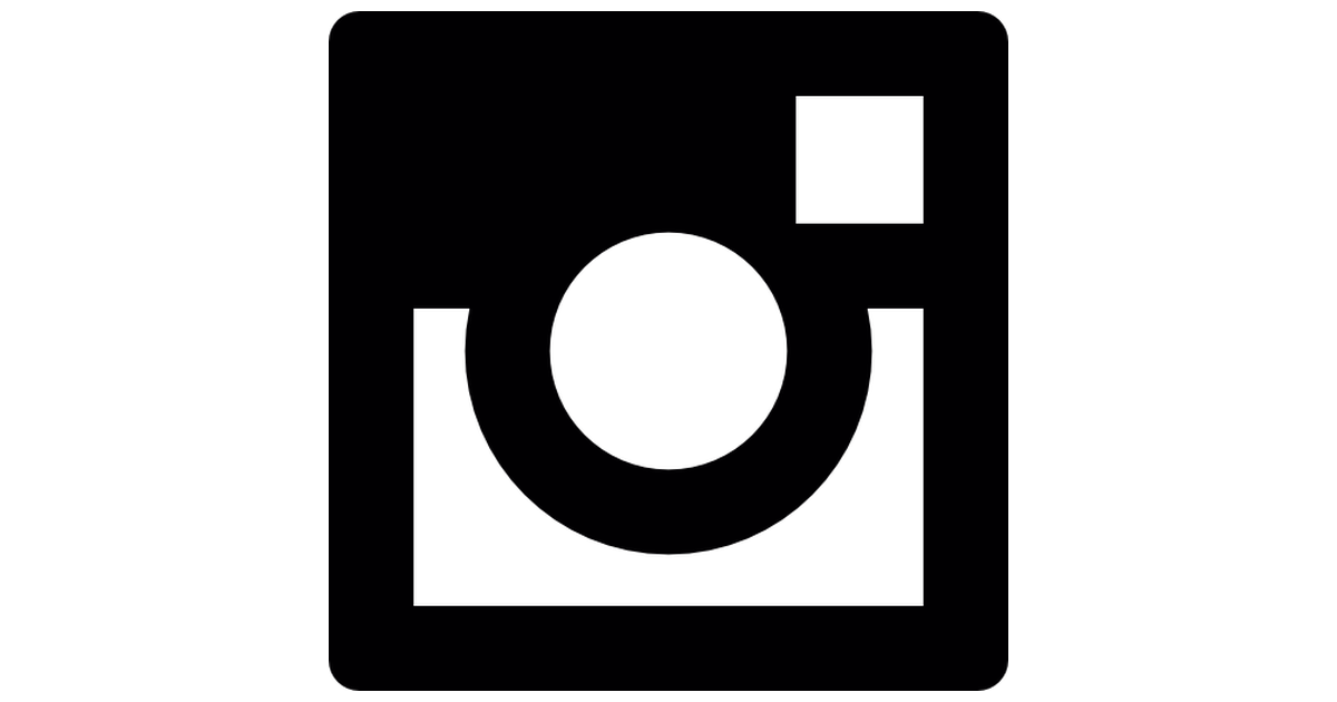 Instagram Icon White on Black