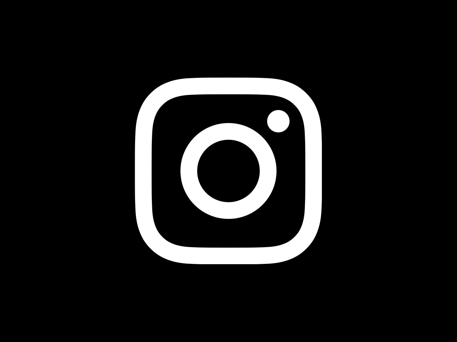 Instagram Icon White On Black Circle - Instagram Logo Eps PNG