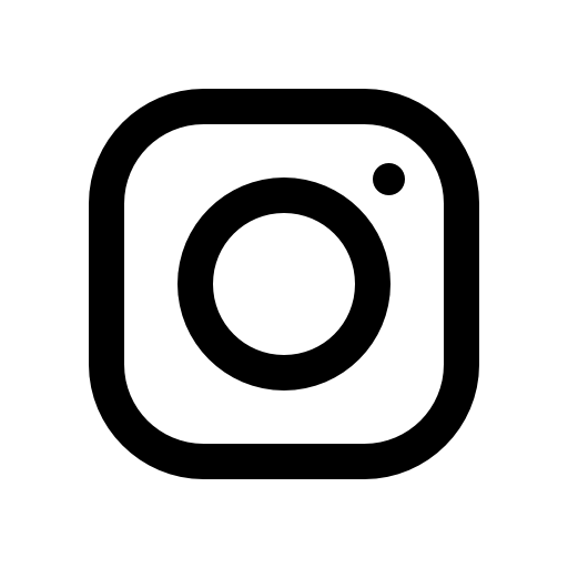 Black instagram icon