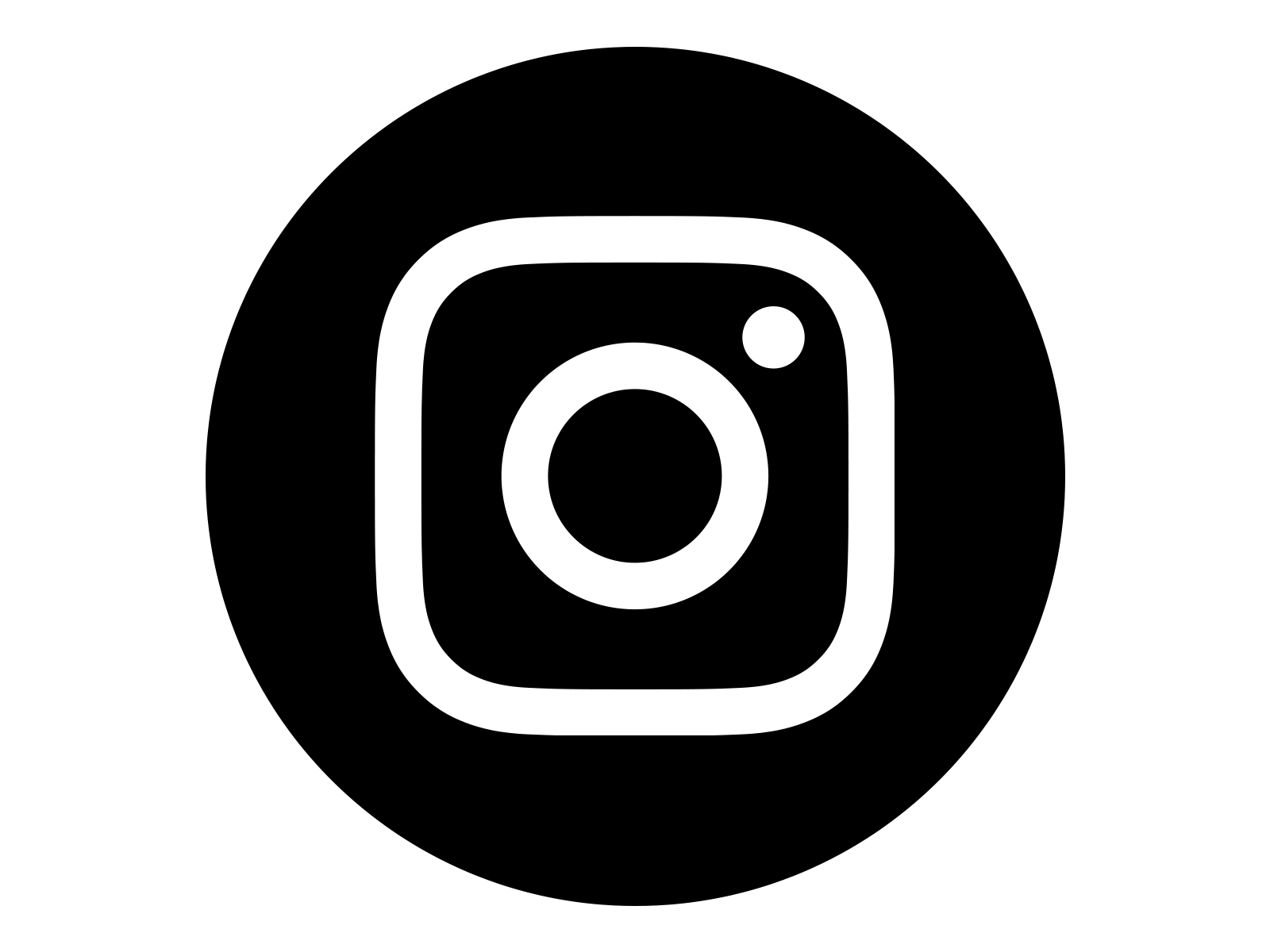 Instagram Icon White on Black Circle - Instagram Vector PNG