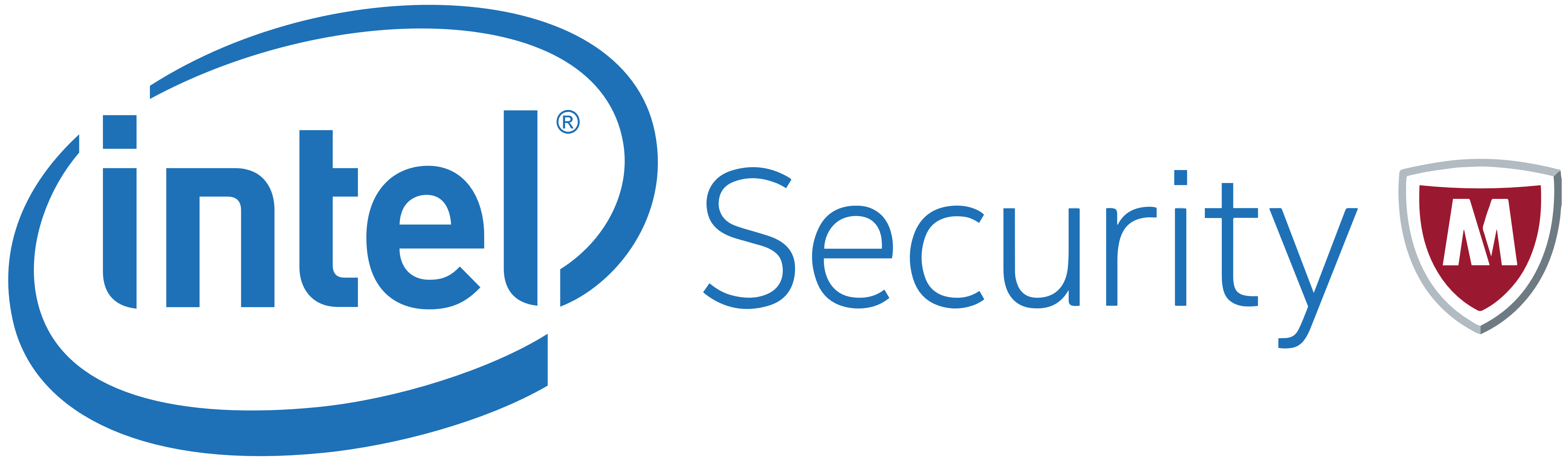 Intel Security McAfee logo, logotype, emblem - Intel Logotype PNG