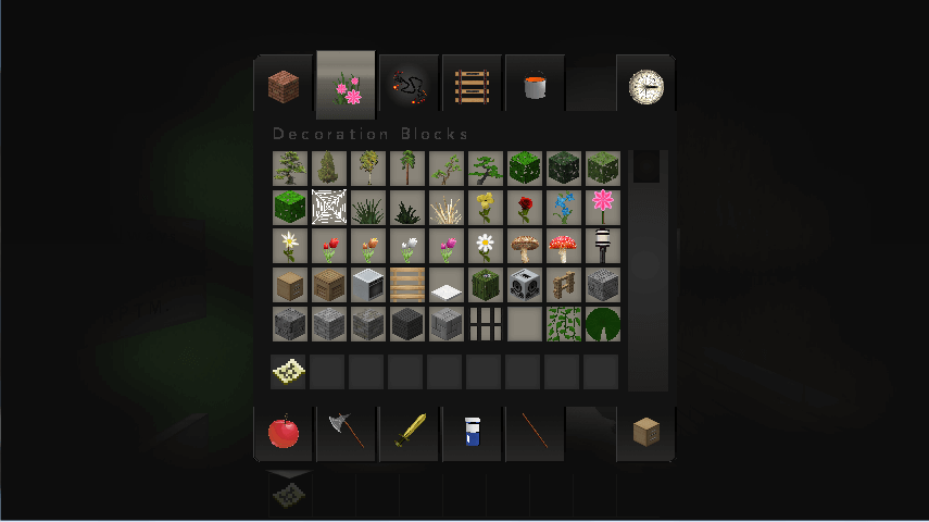 Example Of Structures In Modern HD Inventory In Minecraft - Inventory PNG HD