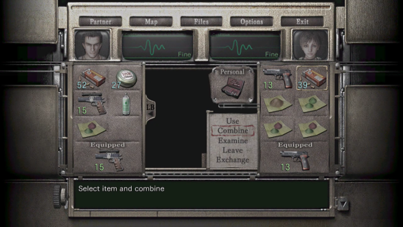 Resident Evil Zero HD Inventory - Inventory PNG HD