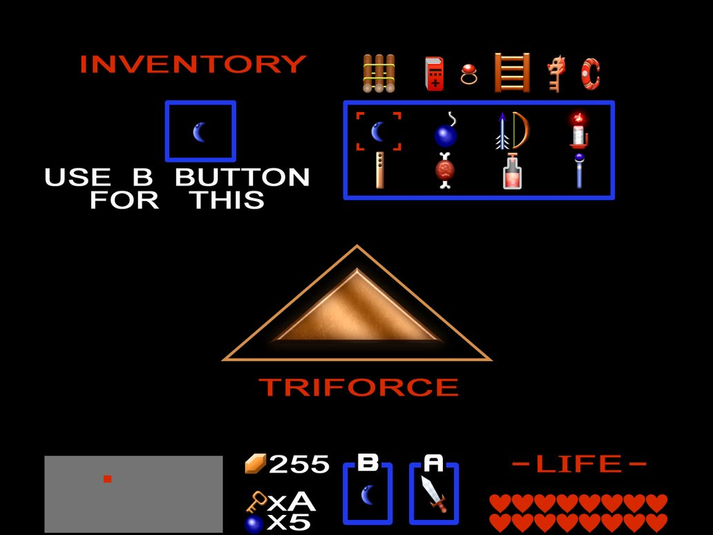 The Legend Of Zelda HD Remake [Inventory] By BLUEamnesiac PlusPng.com  - Inventory PNG HD