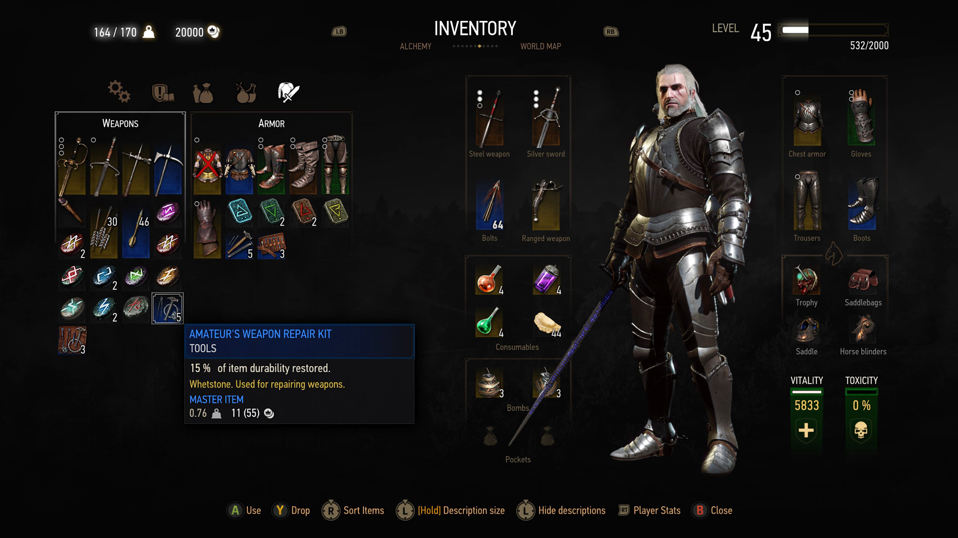 The Witcher 3 Wild Hunt Inventory NEW RGB.png - Inventory PNG HD
