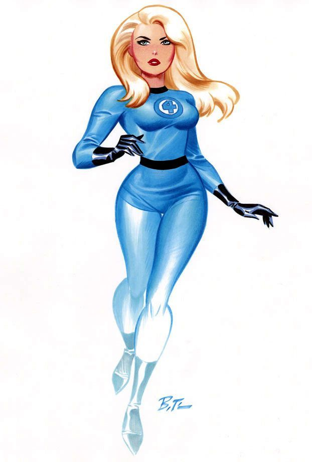 Female Superhero, Bruce Timm, Fantastic Four, Comic Artist, Marvel Comics,  Comic Books, Superheroes, Invisible Woman, Female Heroines - Invisible Woman PNG