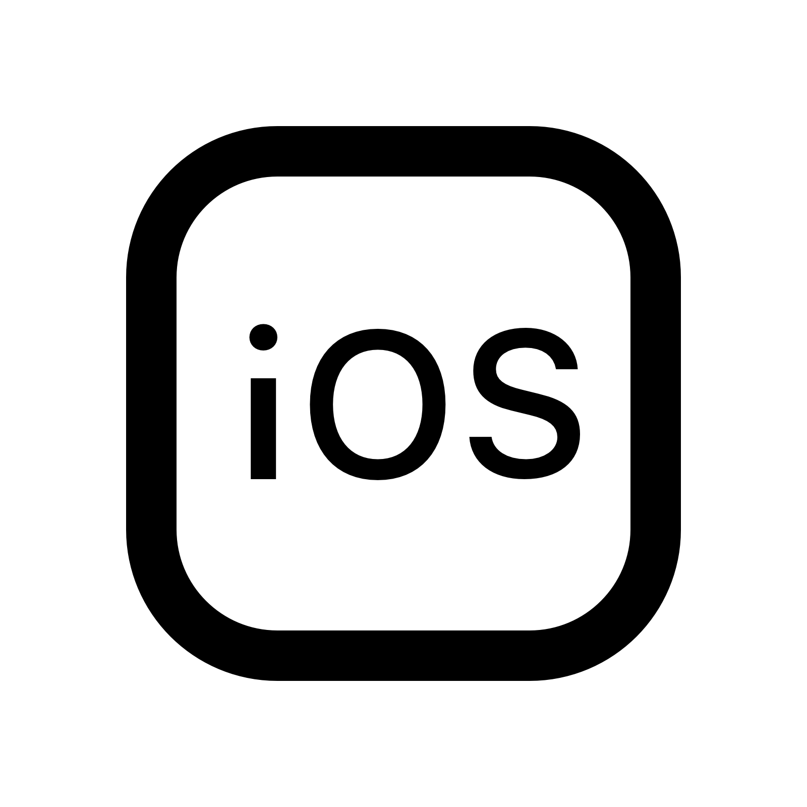 IOS Logo Icon - Ios Logo Vector PNG