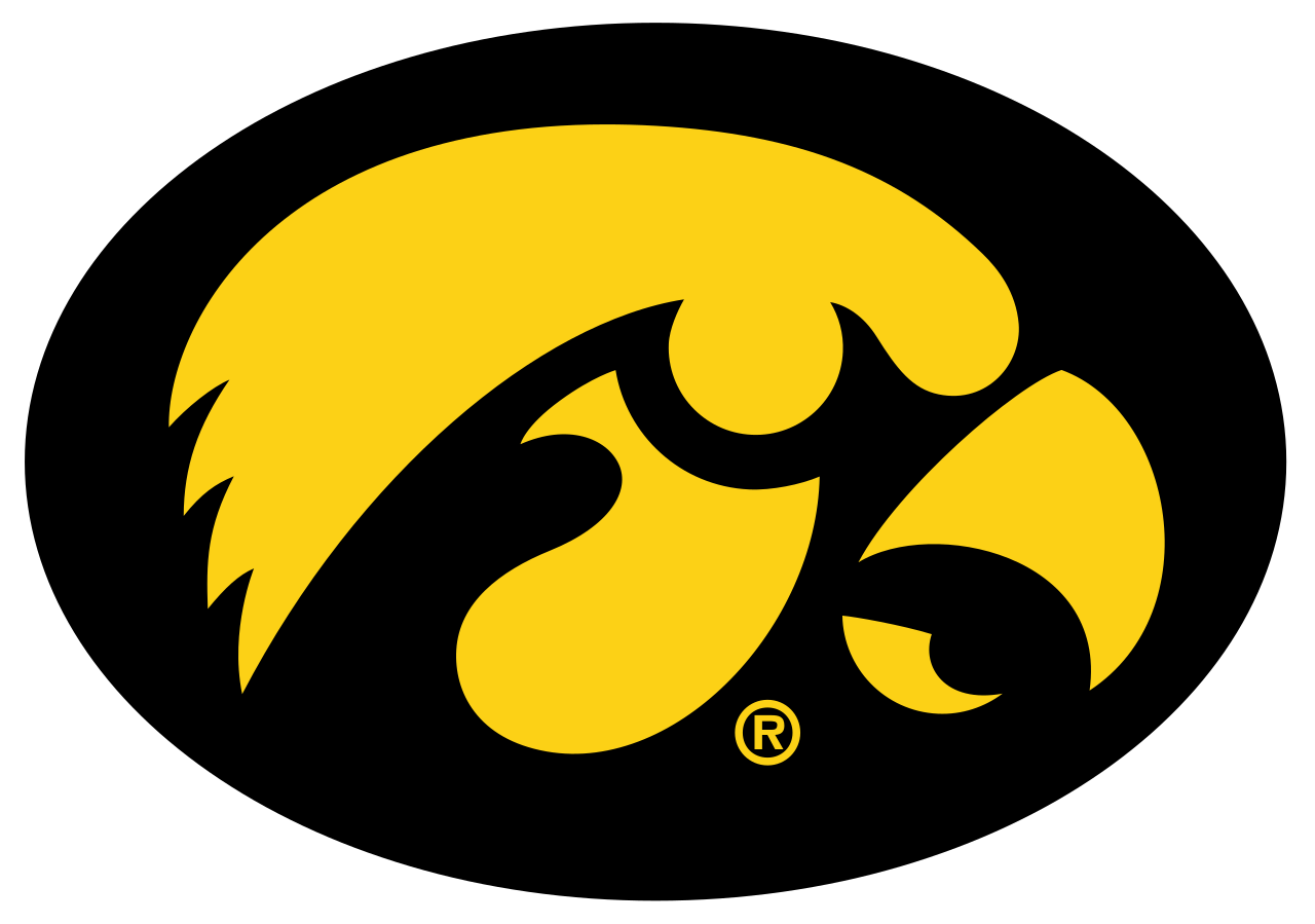 File:Iowa Hawkeyes logo.svg - Iowa Hawkeye PNG Free