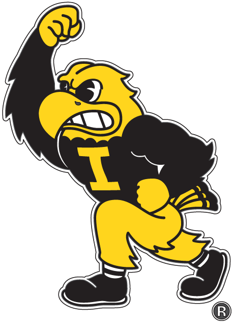 Iowa Hawkeyes Mascot Logo (2002) - Iowa Hawkeyes mascot - Herky the Hawk - Iowa Hawkeye PNG Free