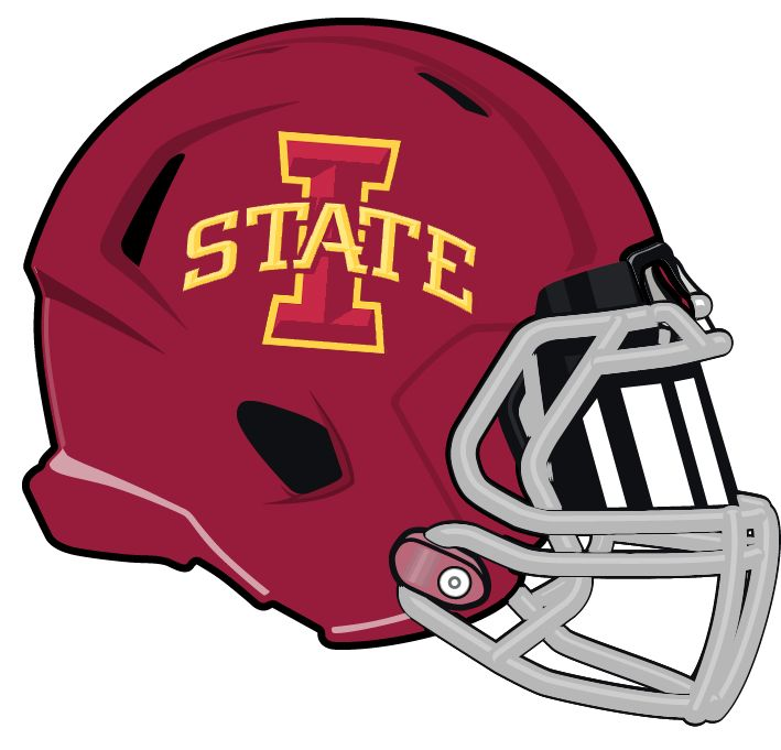 Iowa State Cyclones Football Helmet With Logo: Big 12 Conference - Iowa State Cyclones PNG