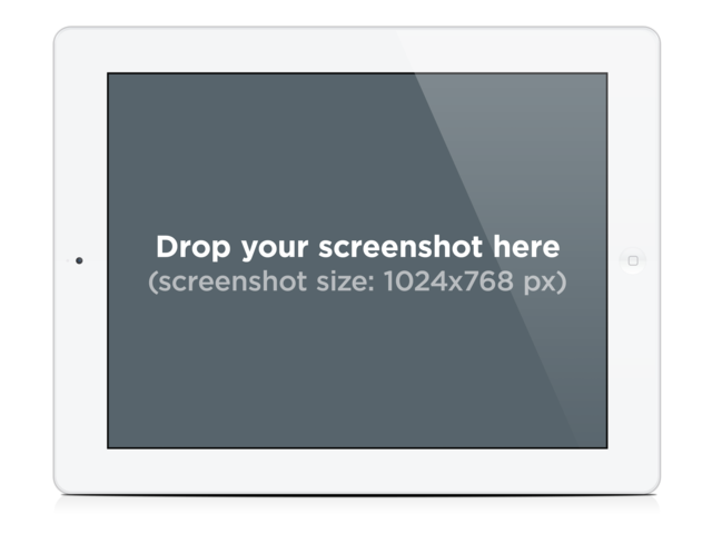 White iPad Landscape. Get your app promotion materials! Placeit Stage Image - Ipad PNG