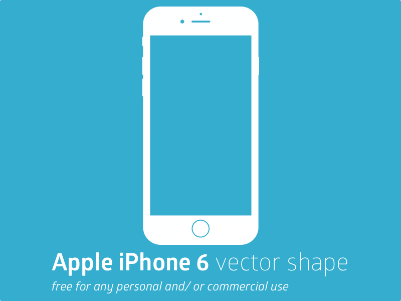 Apple iPhone 6 Vector Shape - Iphone 6s Logo Vector PNG