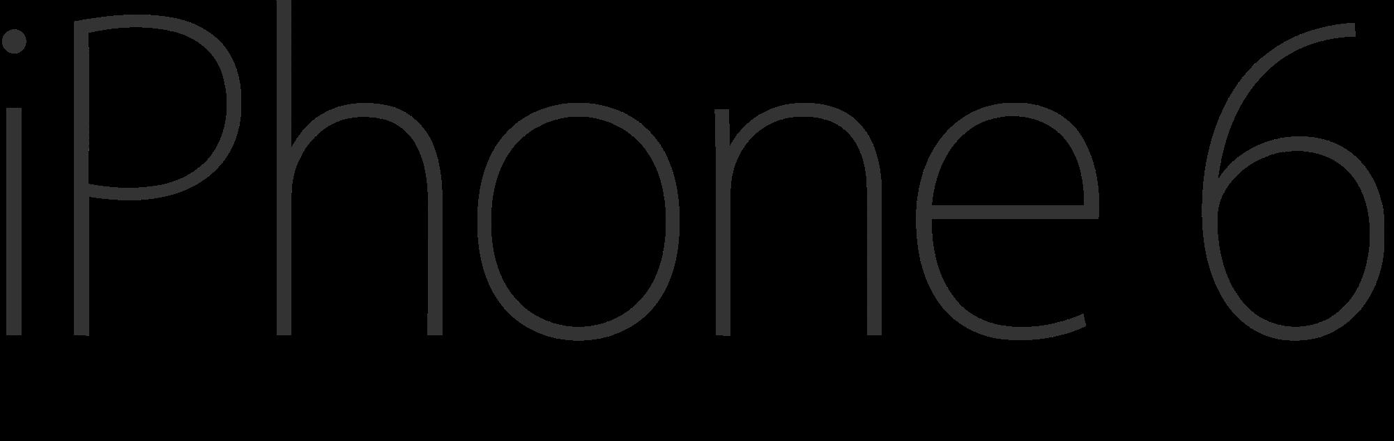 Open PlusPng.com  - Iphone 6s Logo Vector PNG