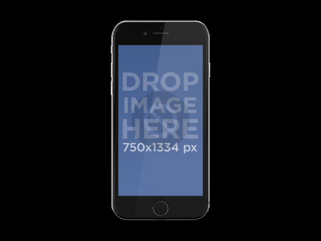 Black iPhone 6 Portrait - Iphone 6s PNG