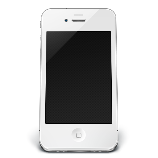 512x512 pixel - Iphone PNG Black And White
