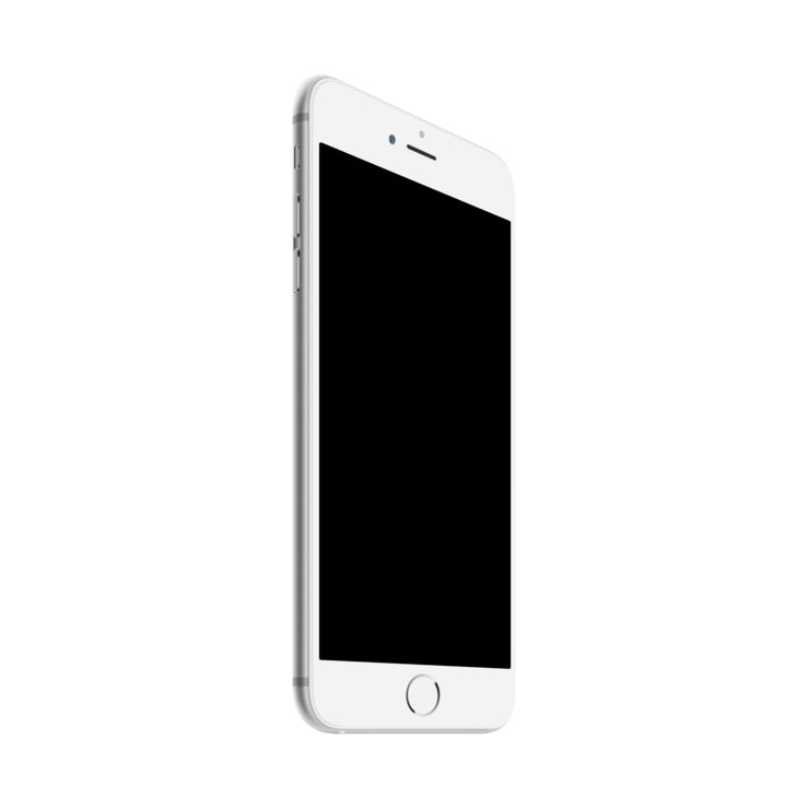 . PlusPng.com iphone 6 plus template PlusPng.com  - Iphone PNG Black And White