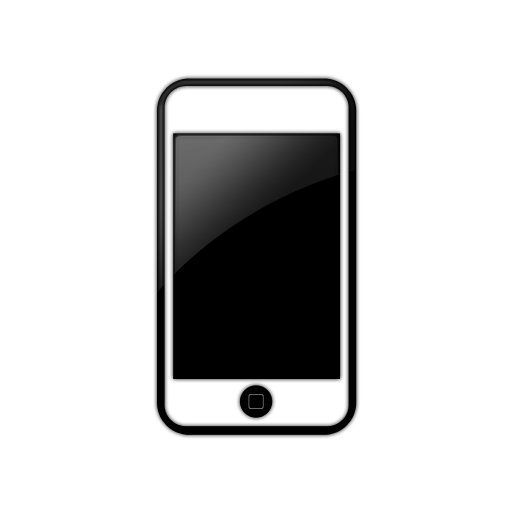 Iphone cell phone clipart free clipart images 6 - Iphone PNG Black And White