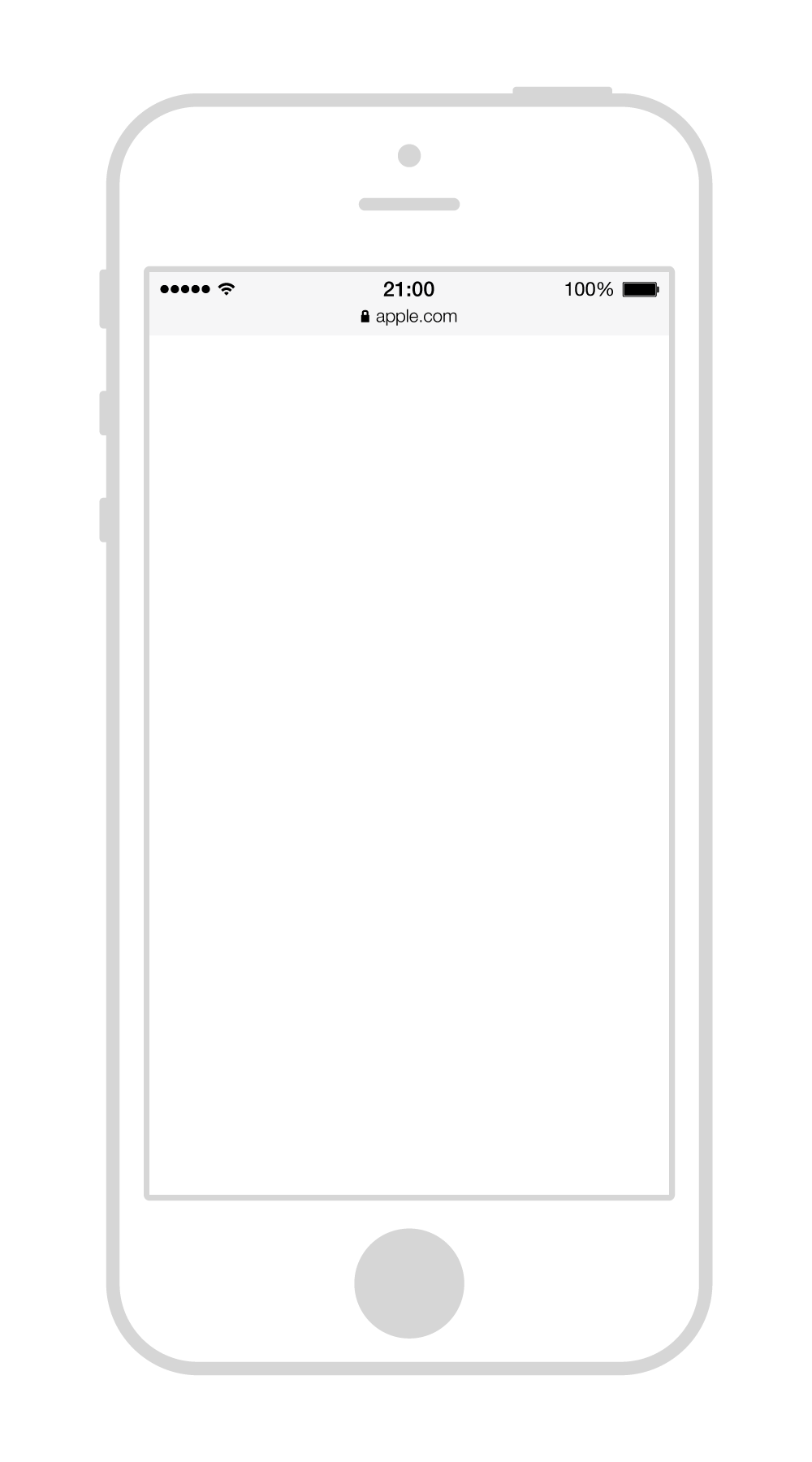 Iphone5 wireframe - Iphone PNG Black And White