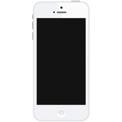 Portrait White Iphone - Iphone PNG Black And White