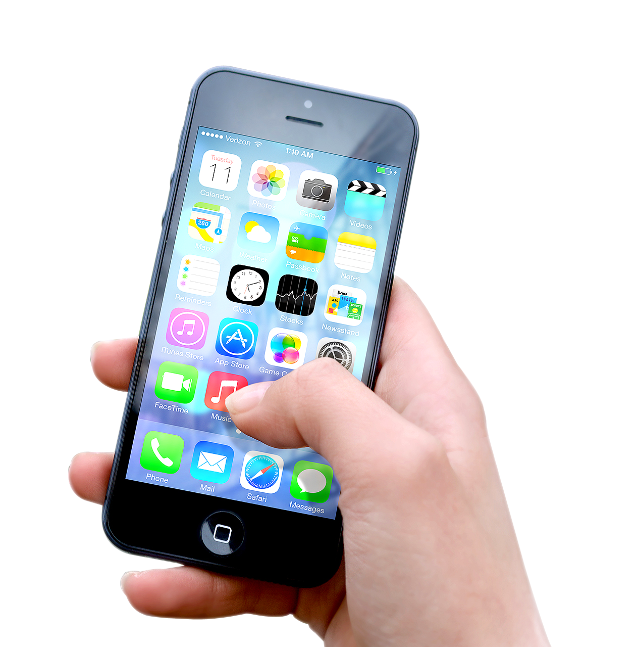 Hand Holding Apple Iphone PNG Image - Iphone PNG