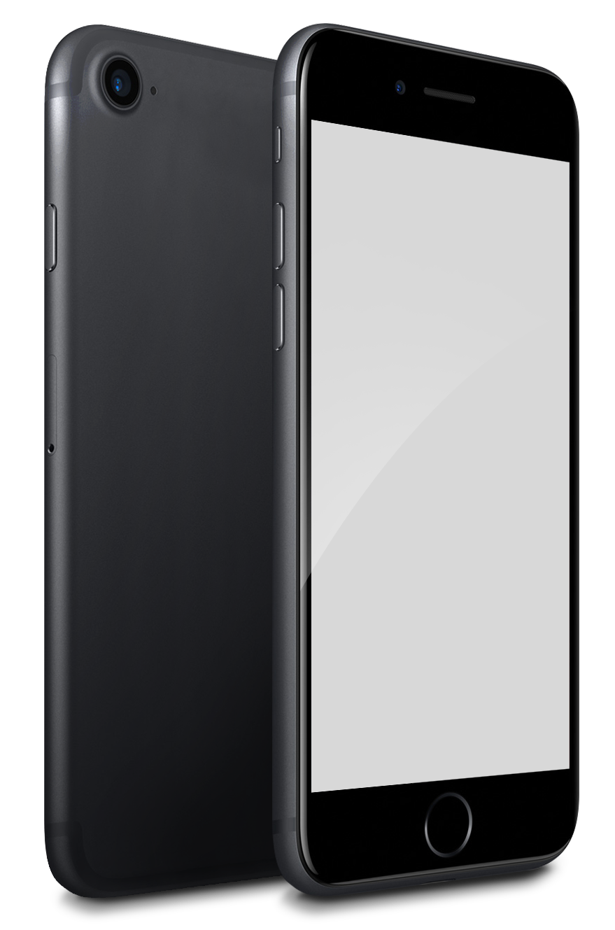 File:IPhone 7 Black Mock-up.png - Iphone PNG Png
