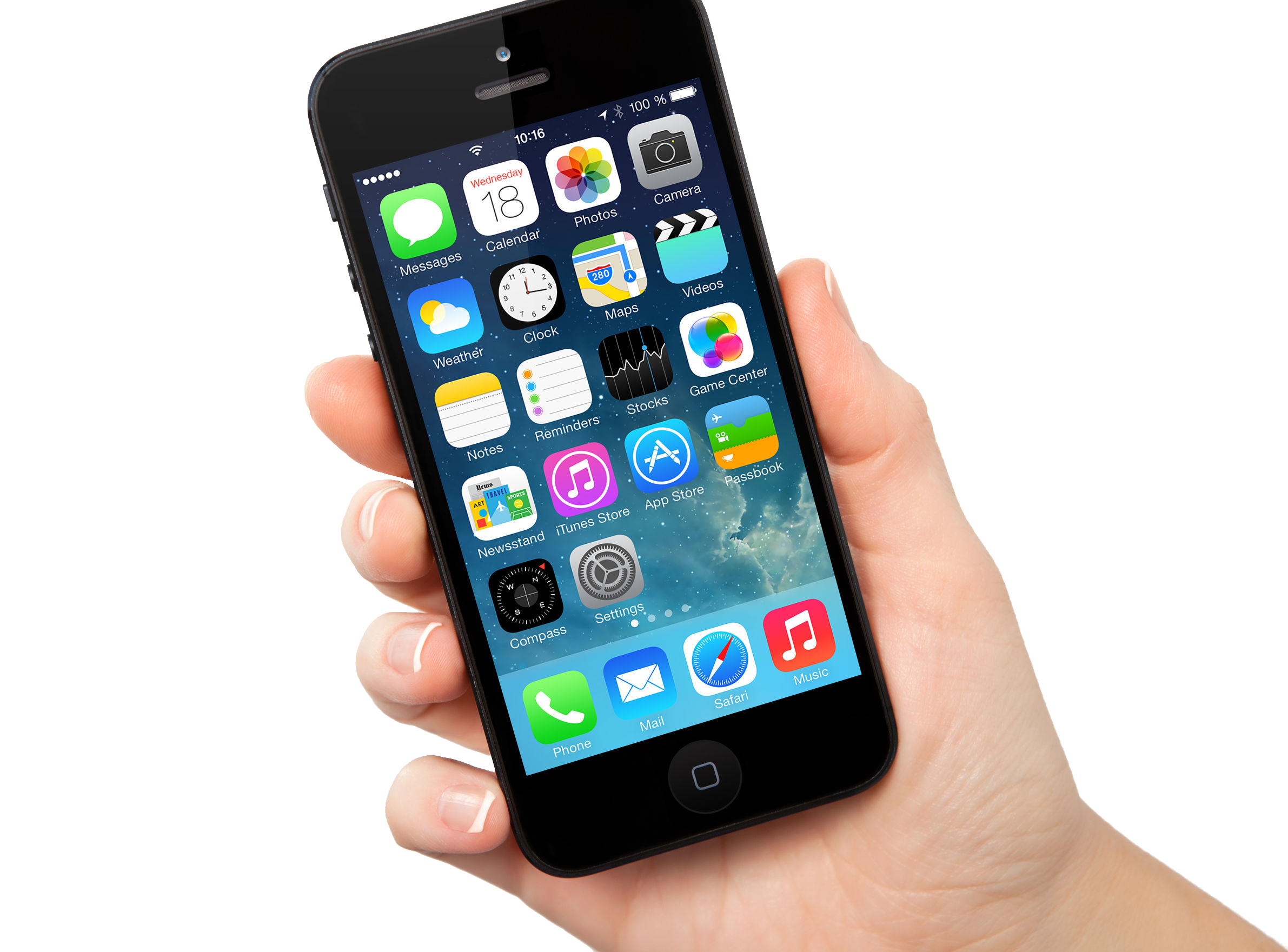 Iphone In Hand Transparent PNG Image - Iphone PNG Png