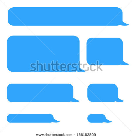 Background Phone Sms Chat Bubbles In Blue Colors - Iphone Text Bubble PNG