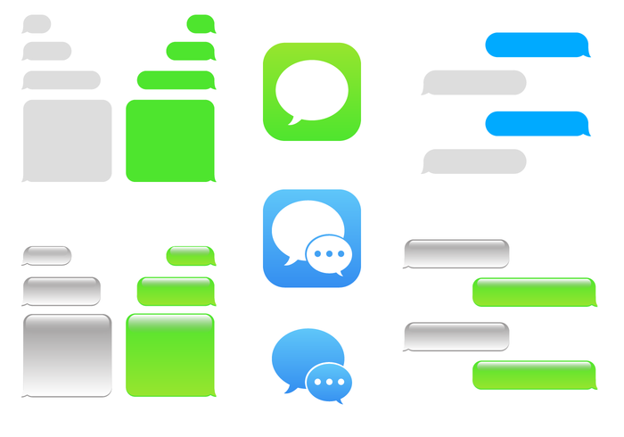 Free IMessage Vector - Iphone Text Bubble PNG