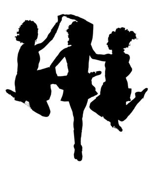 iconic Irish dance photo in silhouette - Irish Dancer PNG