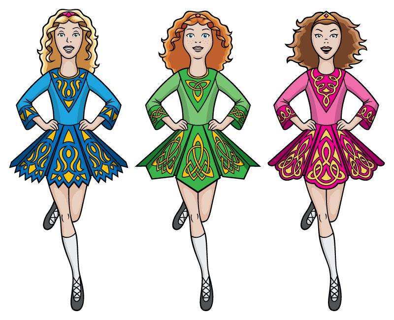Irish Dancers by JohnRaptor PlusPng.com  - Irish Dancer PNG