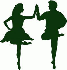 Silhouette Design Store - View Design #55540: irish step dancing couple - Irish Dancer PNG
