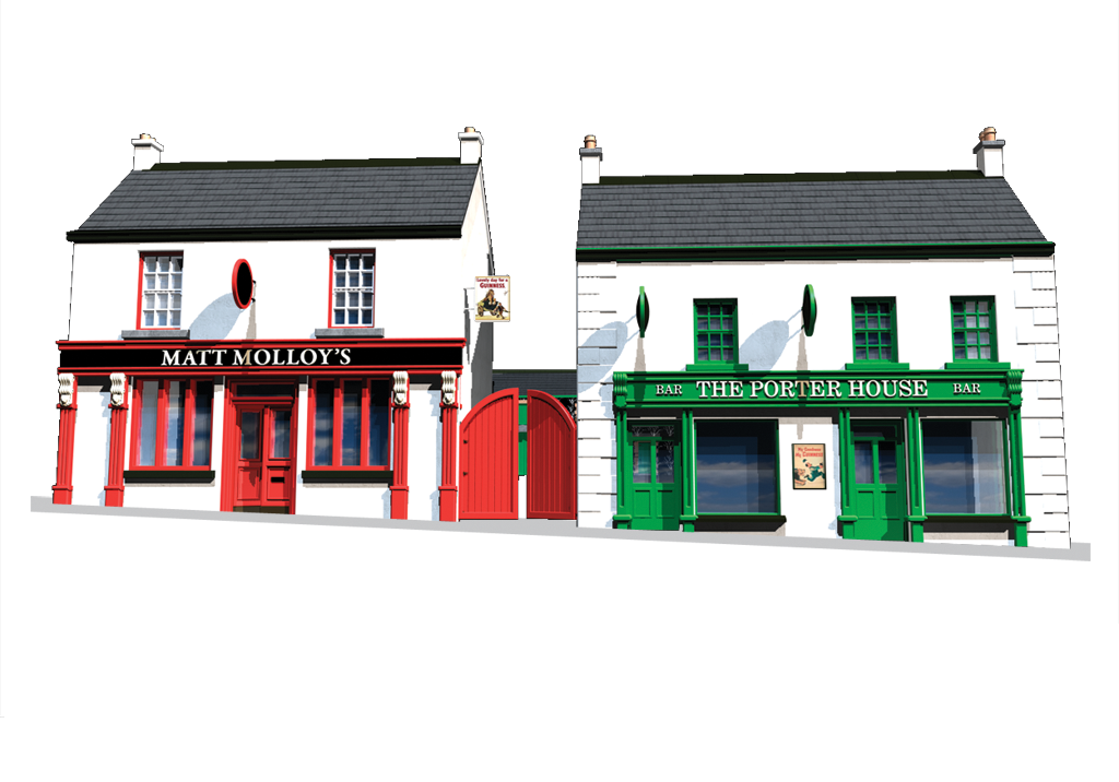 3D Illustration Irish Pub - Irish Pub PNG