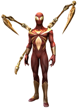 ENHANCED Spider-Man Iron Spider Costume - Iron Spiderman PNG