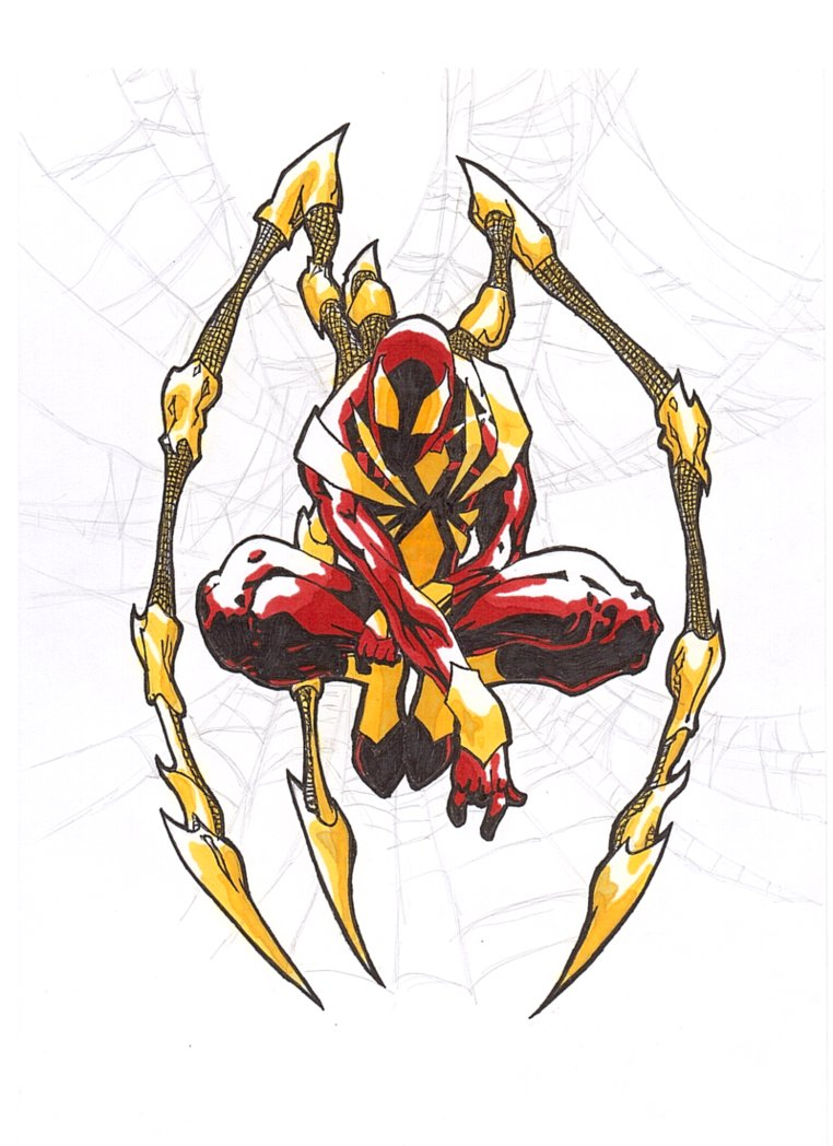 Filename: iron_spider_man_by_syook-d2p6a9j.png - Iron Spiderman PNG