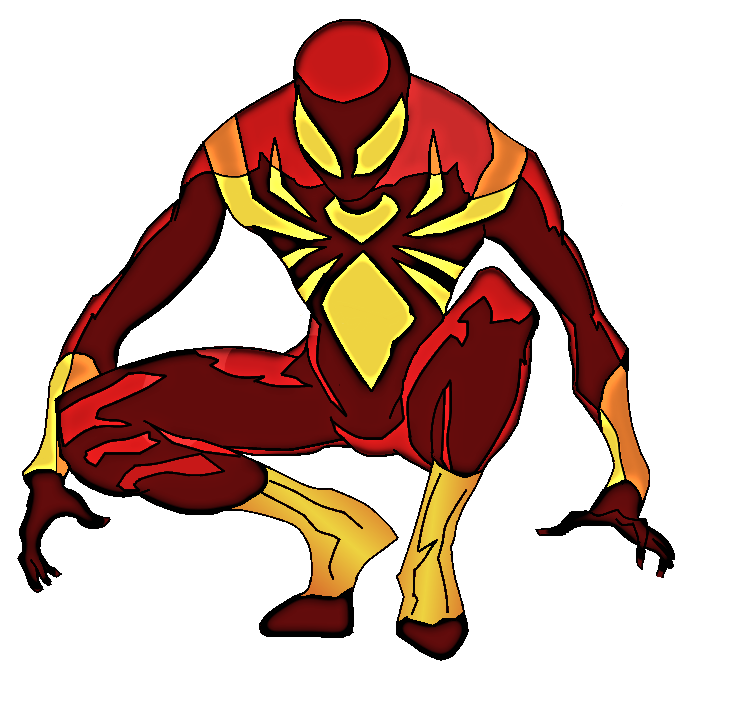 Iron suit spiderman finished cyberaxl on deviantart - Iron Spiderman PNG