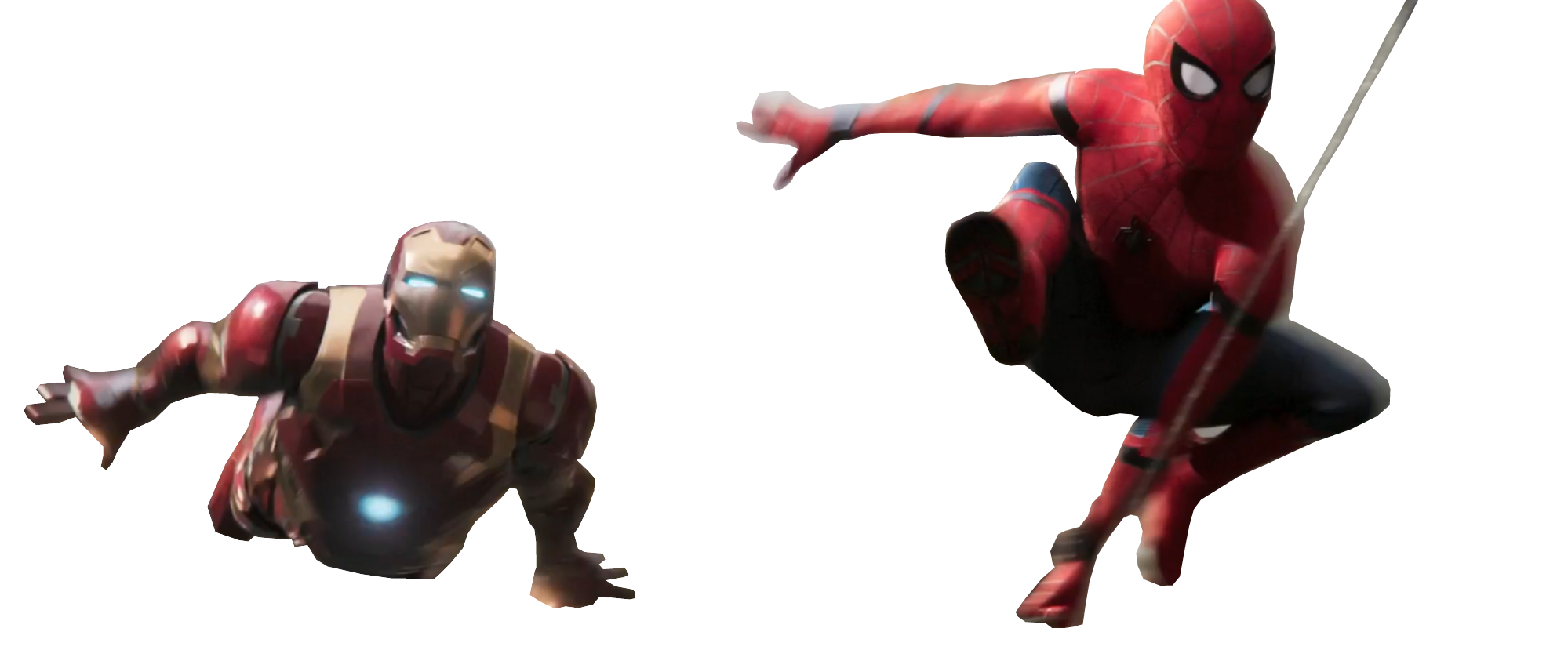 Spider-Man And Iron Man - Transparent by Asthonx1 - Iron Spiderman PNG