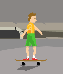 File:Irresponsible son on skateboard.png - Irresponsible PNG