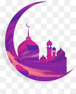 Vector painted purple moon an