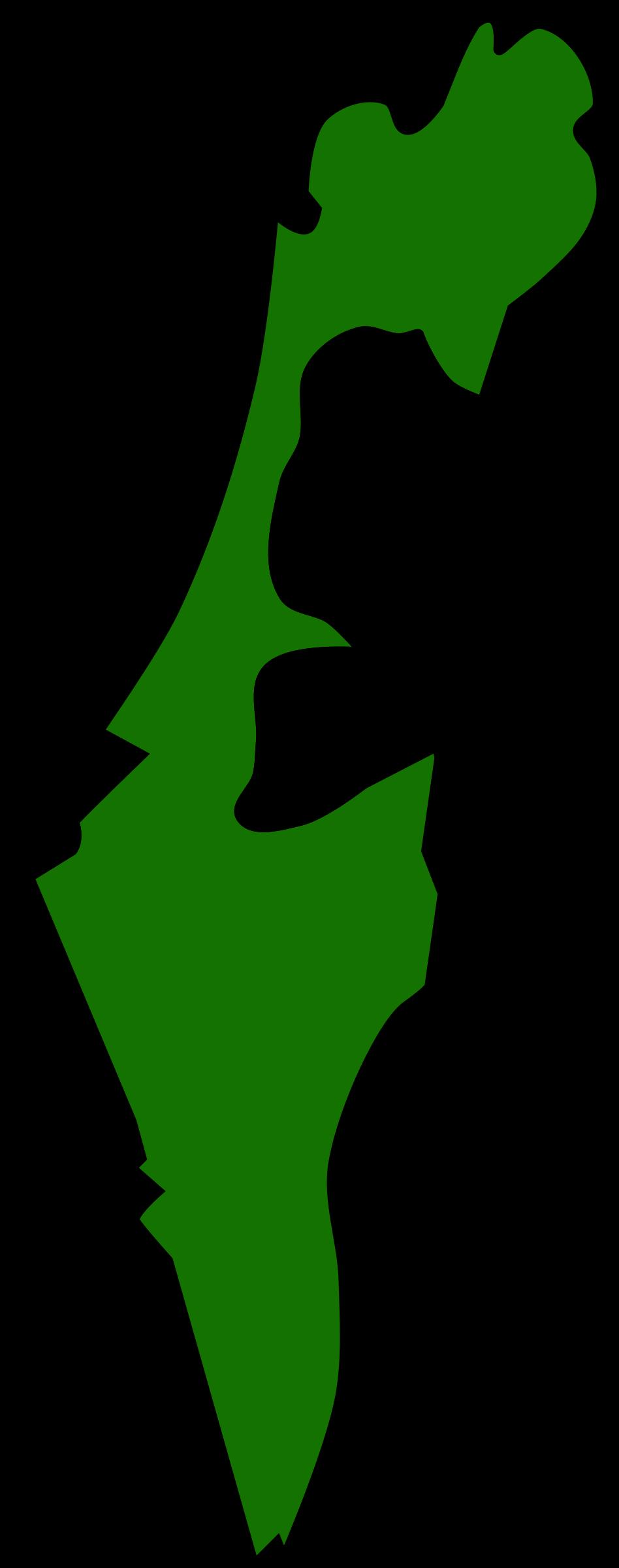 BIG IMAGE (PNG) - Israel Map PNG