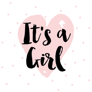 ITu0027S A GIRL 110 X 110 CARD-01.png - Its A Girl PNG