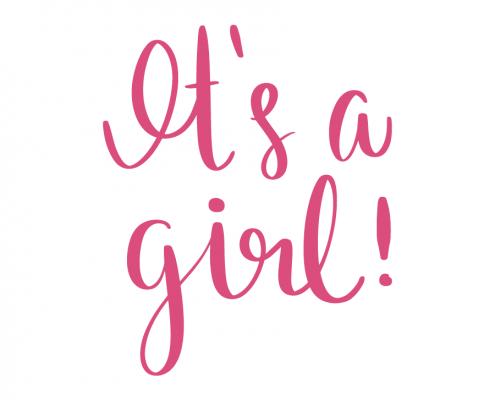 Itu0027s a Girl - Its A Girl PNG