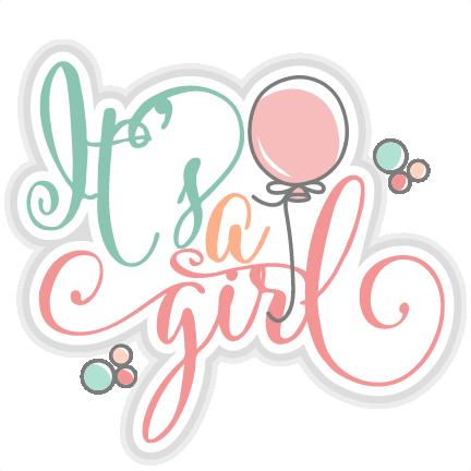 Itu0027s a Girl title SVG cut files for scrapbooking cherry svg cut files free  svgs free svg cuts cute cut files silhouette cricut - Its A Girl PNG
