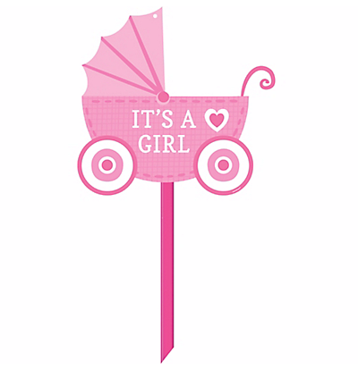 Personalized Polka Dot Sign.png Its A Girl Carriage Baby Shower.png PlusPng.