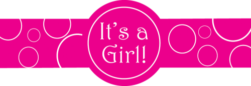 Standard - Its a Girl Template - Its A Girl PNG