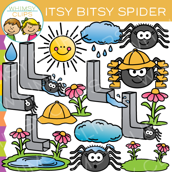 Itsy Bitsy Spider Clip Art - Itsy Bitsy Spider PNG