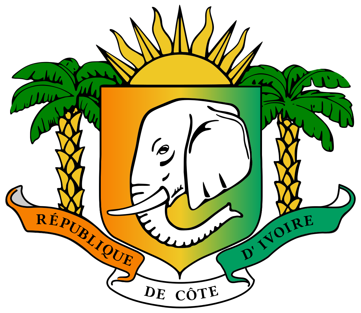 File:Coat of arms of Ivory Coast (1997-2001).svg - Ivory Coast PNG