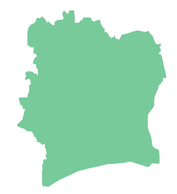 Geo Map - Africa - Ghana - Ivory Coast PNG