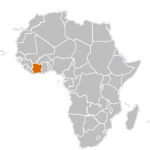 Ivory Coast (Côte du0027Ivoire) Map - Ivory Coast PNG