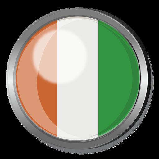 Ivory coast flag badge png - Ivory Coast PNG